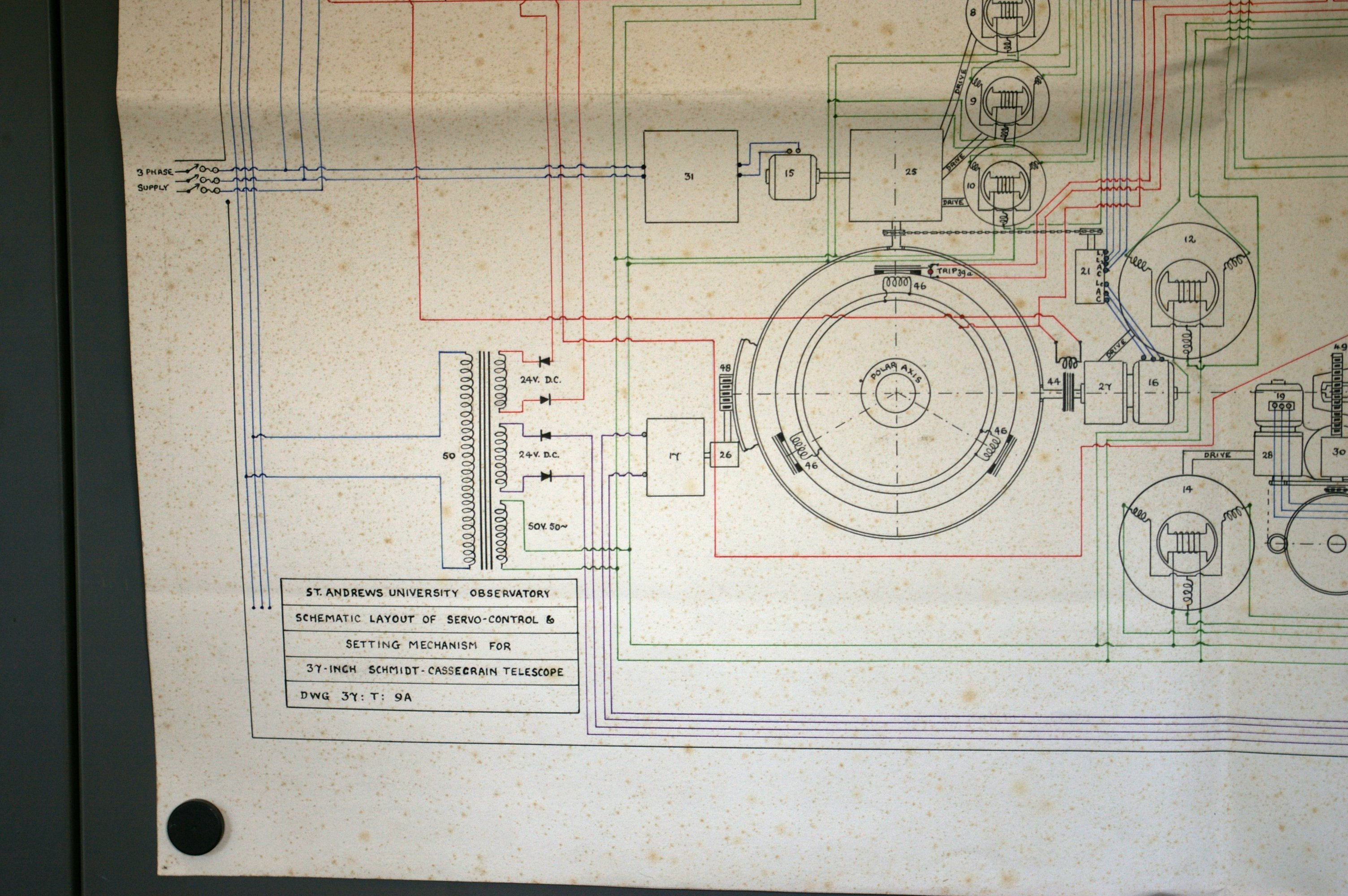 James Gregory Telescope Some Engineering Drawings Know If It Will Be Readable But Here Is A Wiring Diagram Of Fuse C The Sections Schematic Layout Servo System In Colour